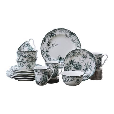 Adelaide Green 16 Piece Dinnerware Set