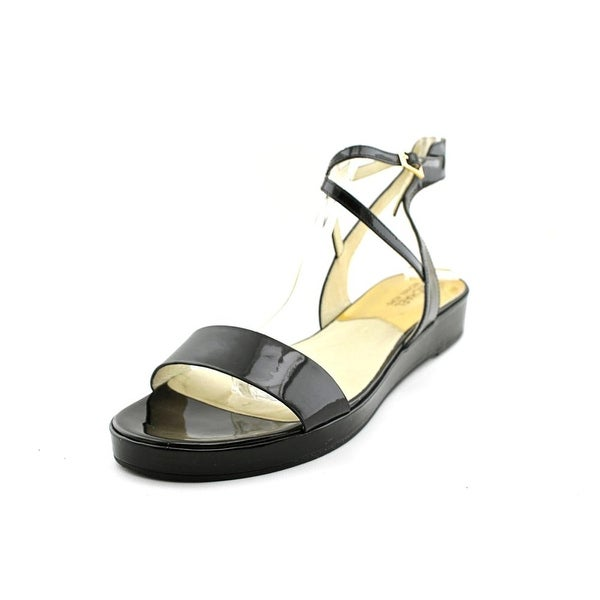 Michael Michael Kors Kaylee Flat Open-Toe Patent Leather Slingback Sandal
