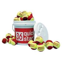 Oncourt Offcourt Quick Start 36 Tennis Balls, Ages 5 to 8, Pack of 30