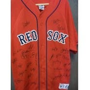 Signed Red Sox Boston 2007 World Series Champions Replica Jersey size XL by the 2007 World Series C