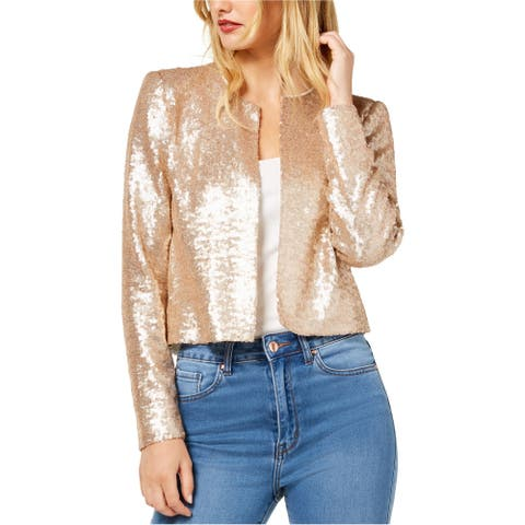 Rachel Zoe Womens Sequined Jacket, metallic, X-Small