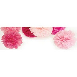 "Fairy Floss - Pop! Pom Poms Paper Decorations 12"" 3/Pkg"