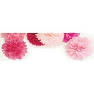 "Fairy Floss - Pop! Pom Poms Paper Decorations 12"" 3/Pkg"