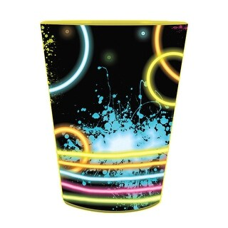 Pack of 12 Glow Party Keepsake Plastic Drinking Party Tumbler Cups 16 oz.