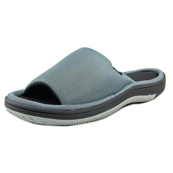 Isotoner A91249 Men Open Toe Synthetic Slides Sandal