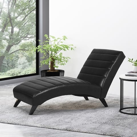 Stillmore Indoor Upholstered Channel Stitch Chaise Lounge by Christopher Knight Home