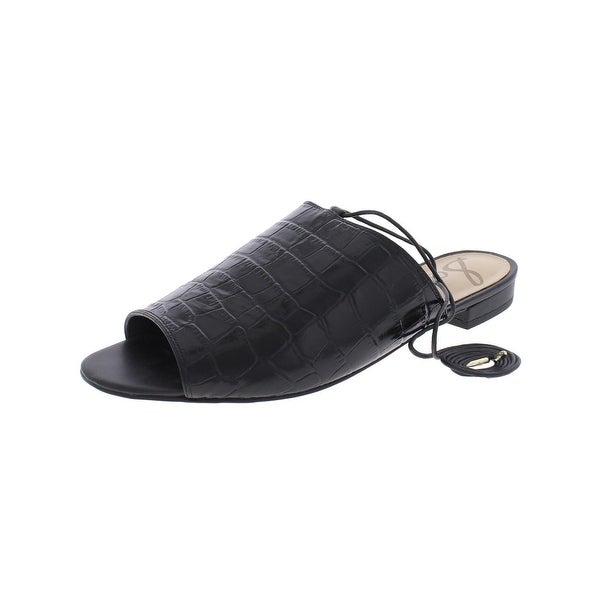 Sam Edelman Womens Tai Slide Sandals Ankle Wrap Open Toe