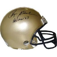 Roger Staubach signed Navy Replica Mini Helmet Heisman 63 JSA Hologram