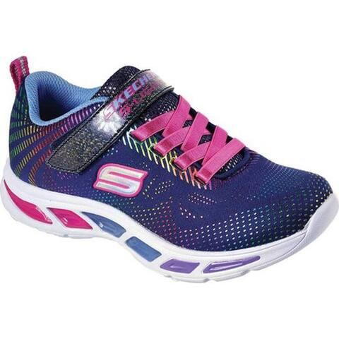 Skechers Girls' S Lights Litebeams Gleam N' Dream Sneaker Navy/Multi