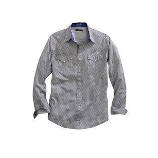 Tin Haul Western Shirt Mens Long Sleeve Snap Gray