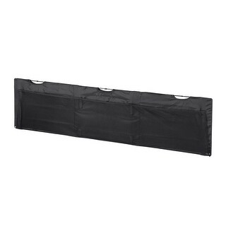 Monoprice Desk Cover Modesty Panel - 5 Feet - Black With Wire Management - Workstream Collection