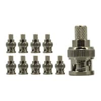 RG6 Crimp On BNC Connector, Copper, 10 pack