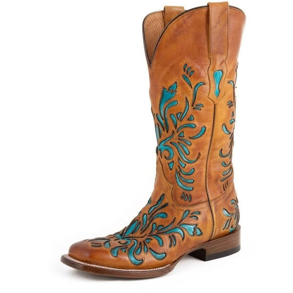 Stetson Western Boots Womens Snip Toe Brown