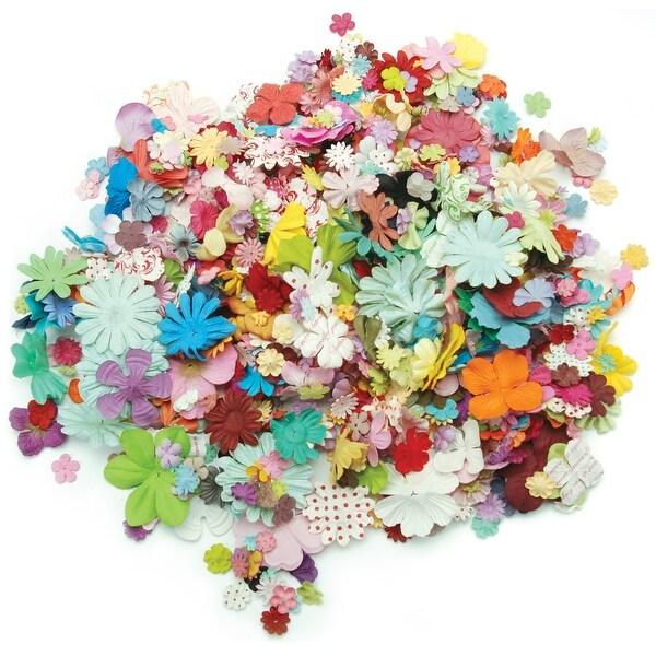 """Wildflower Pillar Pack Paper Petals .5"""" - 2.5"""" 1.2oz-Mixed"""
