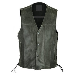 Men's Gray Single Back Panel Concealed Carry Vest