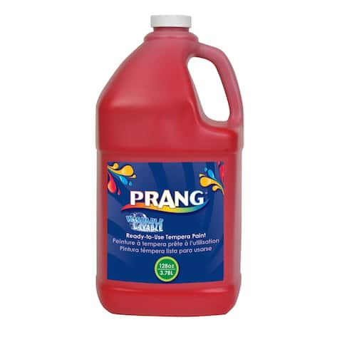 Prang Ready-to-Use Washable Tempera Paint, Gallon, Red
