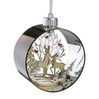 "5"" Woodland Animals Silhouette Prelit Christmas Ornament - N/A"
