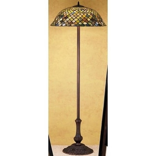Meyda Tiffany 30456 Stained Glass / Tiffany Floor Lamp from the Tiffany Fishscale Collection - tiffany glass
