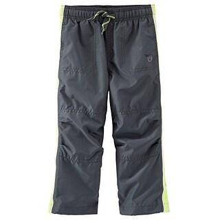 OshKosh B'gosh Baby Boys' Jersey Lined Athletic Pants, 6 Months - Grey