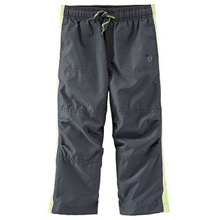 OshKosh B'gosh Baby Boys' Jersey Lined Athletic Pants, 9 Months - Grey
