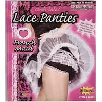 French Maid Lace Costume Panties - Black
