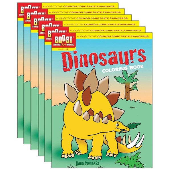 Dinosaurs Coloring Book, Pack of 6