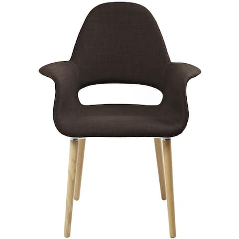 2xhome Mid Century Modern Upholstered Fabric Chair with Light brown Natural Wood Legs Padded Cushion For Kitchen Arms Desk