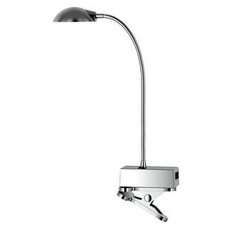 "Tensor 20058-000 Adjustable Brushed Gooseneck Clip-On Lamp, Metallic, 14"""