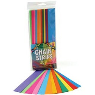 """Mighty Bright Paper Chain Strips 1""""X8"""" 180/Pkg-Assorted Colors"""