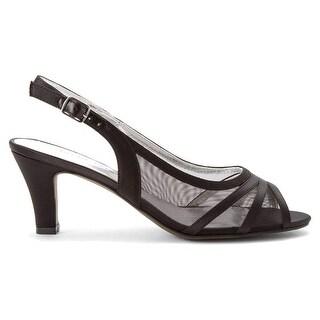 David Tate Womens Petal Fabric Peep Toe Special Occasion Slingback Sandals