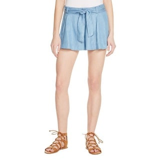 Parker Womens Casual Shorts Solid Belted