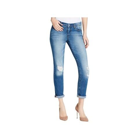 Jessica Simpson Womens Juniors Mika Best Friend Skinny Jeans Mid-Rise Ripped - 25