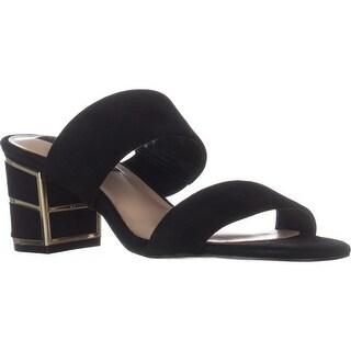 STEVEN Steve Madden Siggy Dress Sandals, Black Suede