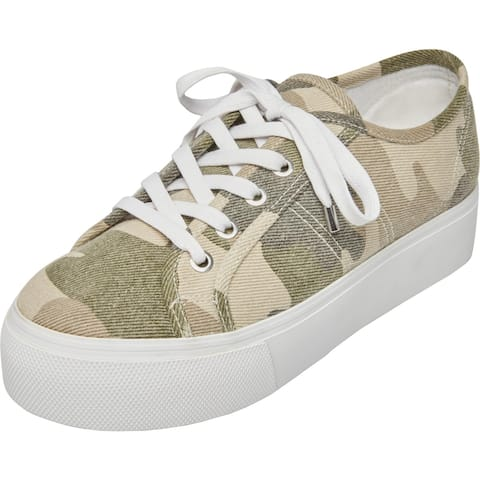 Steve Madden Womens Emmi Fashion Sneakers Lace-Up