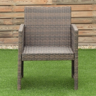 Costway 4 PCS Outdoor Patio Rattan Wicker Furniture Set Table Sofa Cushioned Garden Deck