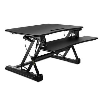 Mount-It! Standing Desk Sit-Stand Desk Converter Height Adjustable, Large Surface Area - MI-7955