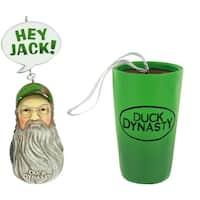 Duck Dynasty Ornament Set - Si & Tea Cup