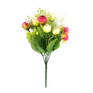 Wedding Banquet Decor Emulational 10 Heads Camellia Flower Bud Bouquet