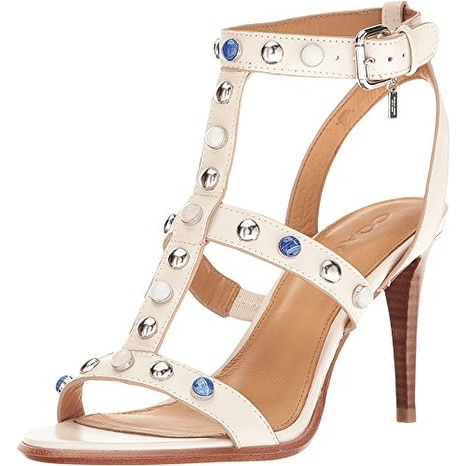 Coach Womens Isabel Leather Open Toe Casual Ankle Strap Sandals