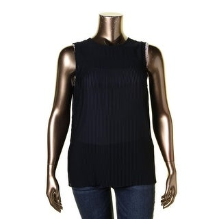 MICHAEL Michael Kors Womens Pullover Top Crepe Pleated