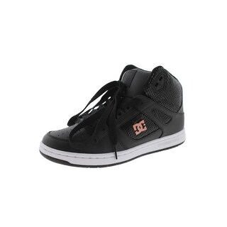 DC Womens Rebound High Skateboarding Shoes Hightop Perforated (5 options available)