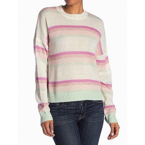 ABOUND White Women's Size Medium M Stripe Printed Crewneck Sweater