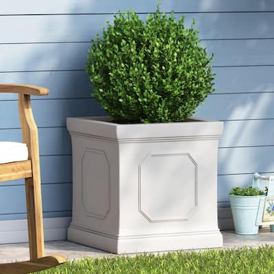 Burgos Outdoor Cast Stone Outdoor Planter by Christopher Knight Home