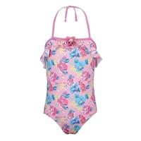 Sun Emporium Baby Girls Pink Blue Blossom Vintage Cut Out Swimsuit