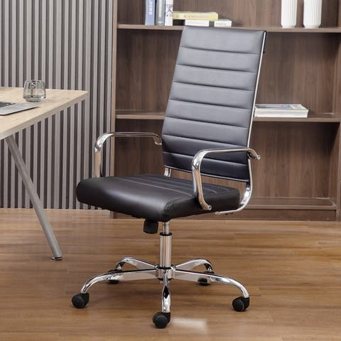 Home Office Chair PU Leather High Back Executive Desk Chair
