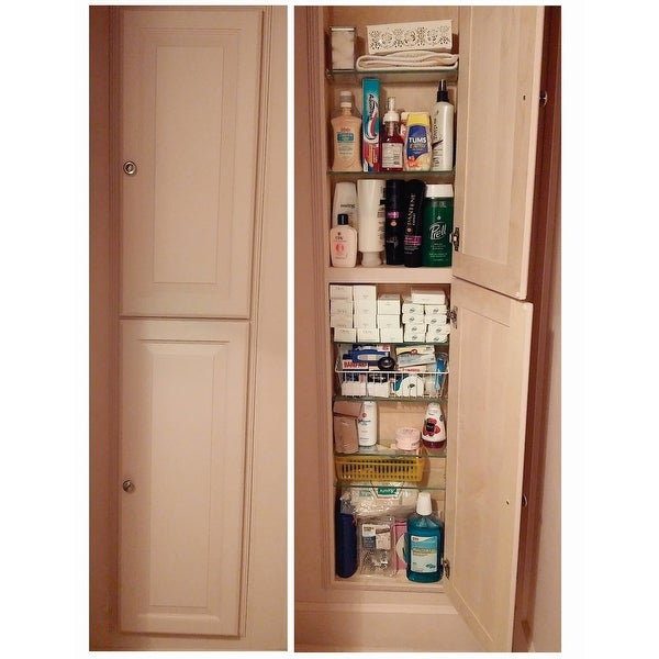 Baldwin 66 Inch Natural Recessed Pantry Storage Cabinet Free Shipping Today 7676283