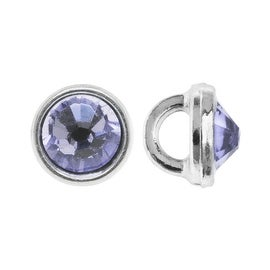 Crystaletts Swarovski Elements Crystal Buttons, Rhinestone 3mm, 20 Pieces, Rhodium Plated/Provence Lavender