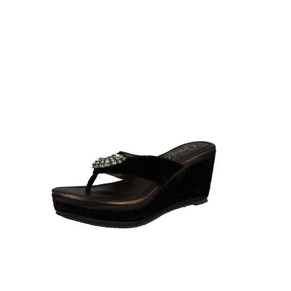 Grazie Women's Jozlynn Wedge Sandals - Brown
