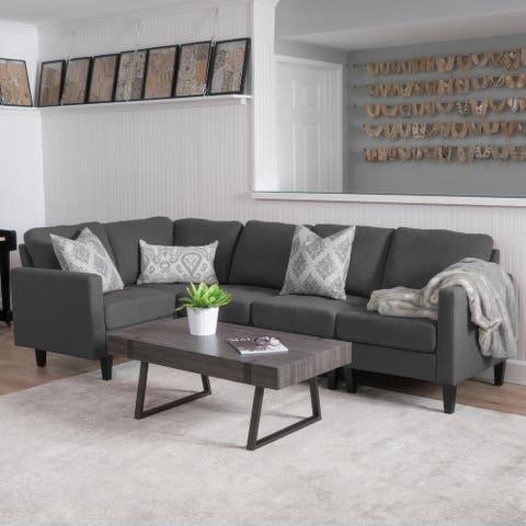 Zahra Modern 5-piece Fabric Sofa Sectional by Christopher Knight Home