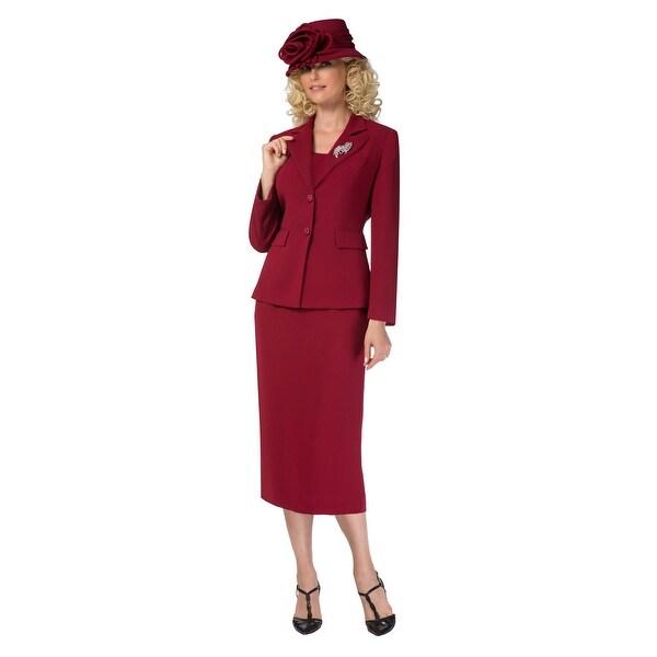 Giovanna Signature Women's Washable 2-button Mock 3-piece Skirt Suit. Opens flyout.